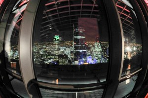 domed view from sky garden
